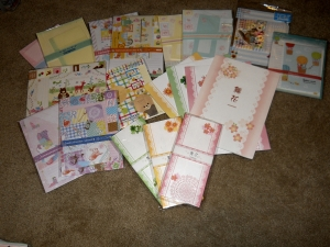 japanese stationery, japanese letter sets