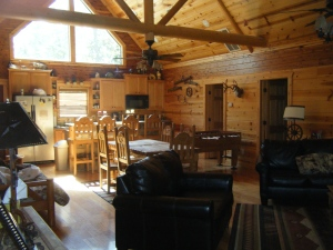 The great room of our cabin