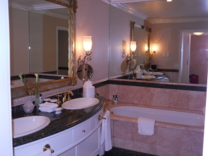 One half of the bathroom