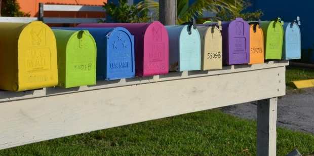 Colorful Mailboxes - from Morguefile (cropped)