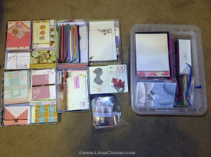 stationery organized