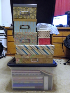 stationery in boxes